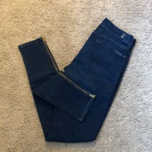 NWOT 7 for all mankind skinny Gwenevere jeans 24